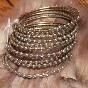Vintage Made in India Set of 12 Bangle Bracelets
